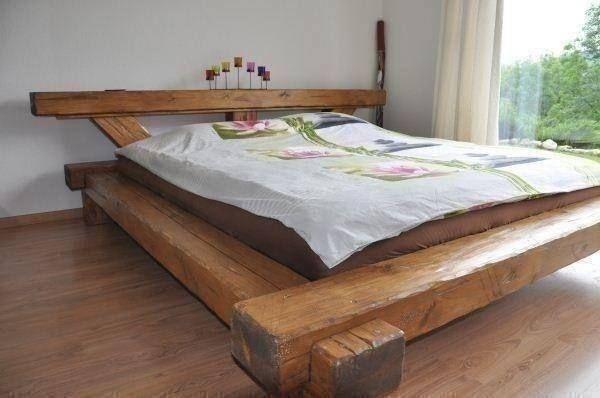 lit unique en poutres vieux bois jpg 600 u00d7 398 pixels lit poutre Pinterest # Lit En Rondin De Bois