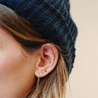 MUCHOS A LA VEZ.   28 Atrevidos piercings en la oreja que tienes que probar