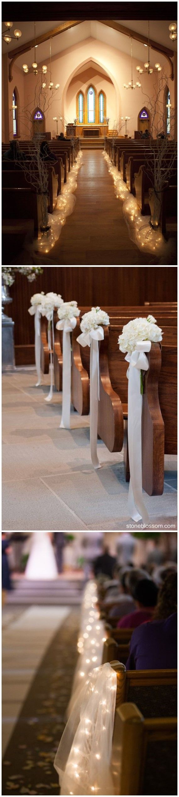 17 best ideas about wedding church aisle on pinterest for Aisle wedding decoration ideas