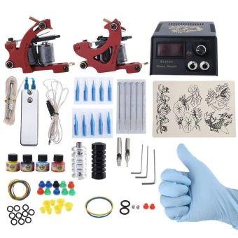 ราคาถูก  Complete Tattoo Kit DIY 2 Tattoo Machines 4 Colors Inks PowerSupply System (EU PLUG) (Red) - intl  ราคาเพียง  1,409 บาท  เท่านั้น คุณสมบัติ มีดังนี้ Exquisite workmanship, smooth and compact surface, powerfulperformance. Easily apply and you can have DIY tattoo with thismachine. Foot pedal, clip cord, power cord are available. The rubber bands can avoid machine vibration. Usage: plug in the power then it can work. The grommet needles provide stability. Needle sizes: 3RL, 7M1. Liner…