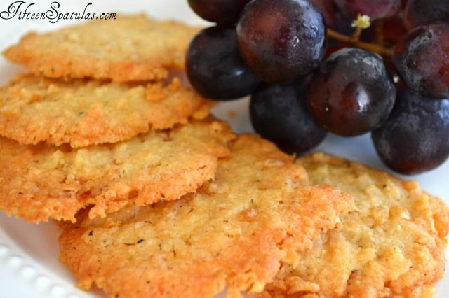 These are CHEESE CRISPS, a baked, cheesy treat made with Krispy Rice cereal and your favorite cheese.