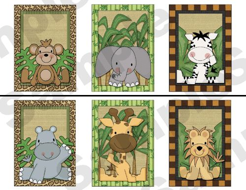 JUNGLE ZOO ANIMALS WALL BORDER DECALS BABY BOY NURSERY KIDS ROOM STICKERS DECOR $13.99 #decampstudios