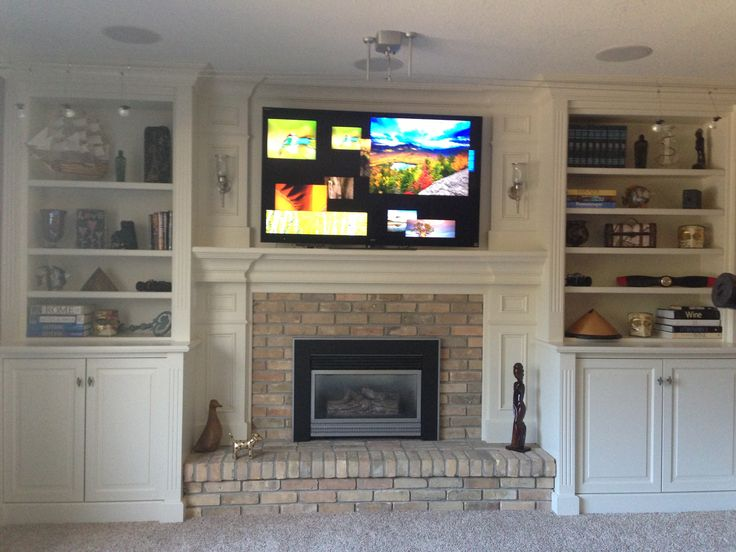 Fireplace With Shelving Unites On Each Side House