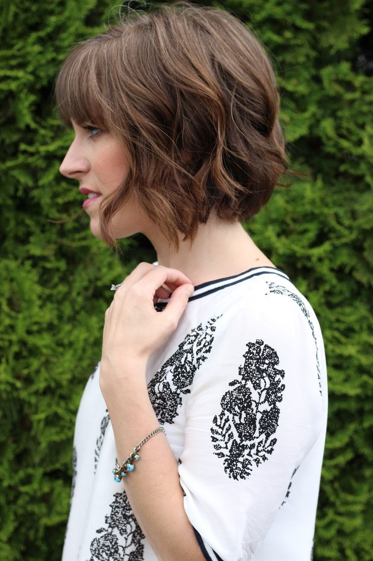 haircut chin length short waves
