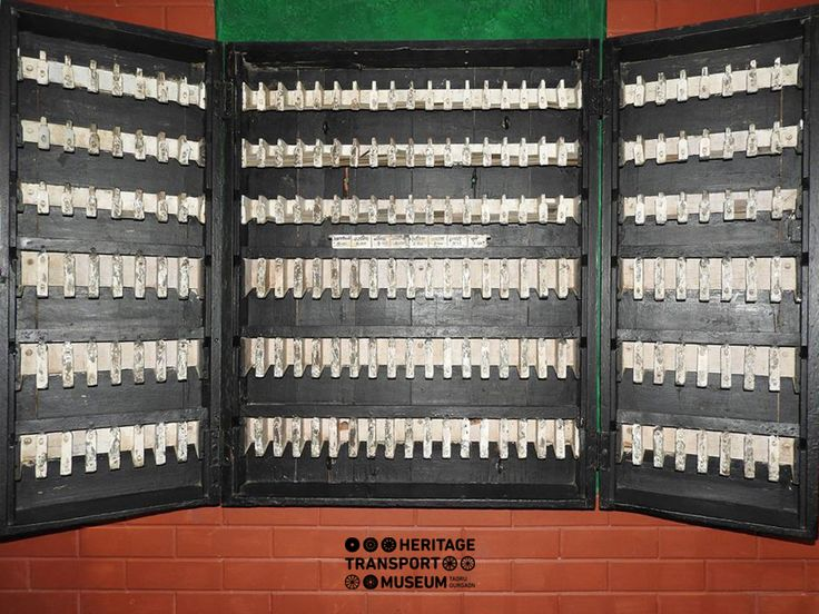 Take a look at this Ticket Rack displayed at the railway section of the museum.  #ticketrack #ticket #railway #museum #travel #tour #indianrail #rail #train #explore