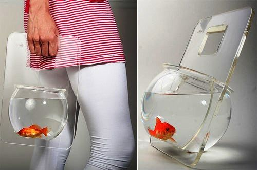 Portable Fish Bowl (not sure why, but it's kinda cool)