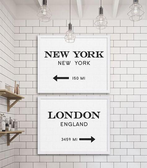 New York City Print London Art Industrial Wall by MetropolisPrints