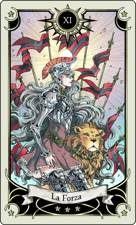 Tarot card 11- the Strength by rann-rann.deviantart.com