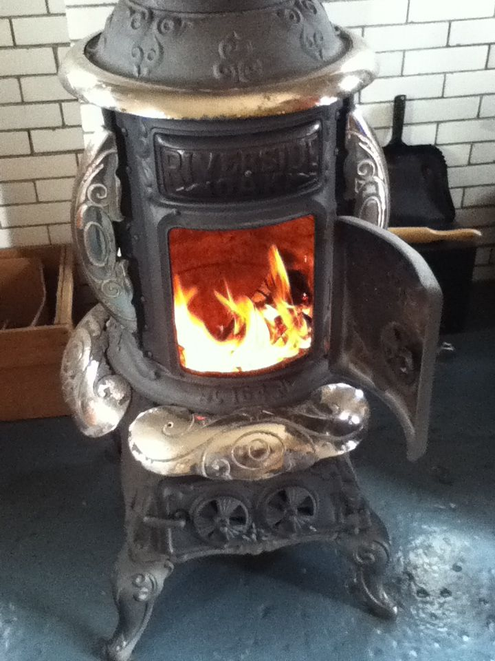 Old School Coal Or Wood Burning Kitchen Stoves