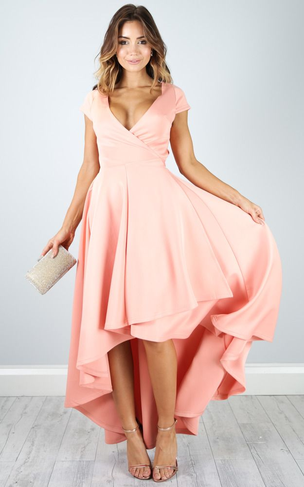 This blush dress is perfect for a party or a day at the races with a full, twirling skirt. Pair with nude heels and a clutch for the perfect party look.