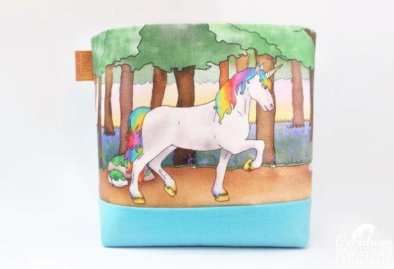 Unicorn Fabric Storage Box Storage Basket Fabric Basket Fabric Organiser Storage Bin by ceridwenDESIGN http://ift.tt/2nHMqFa