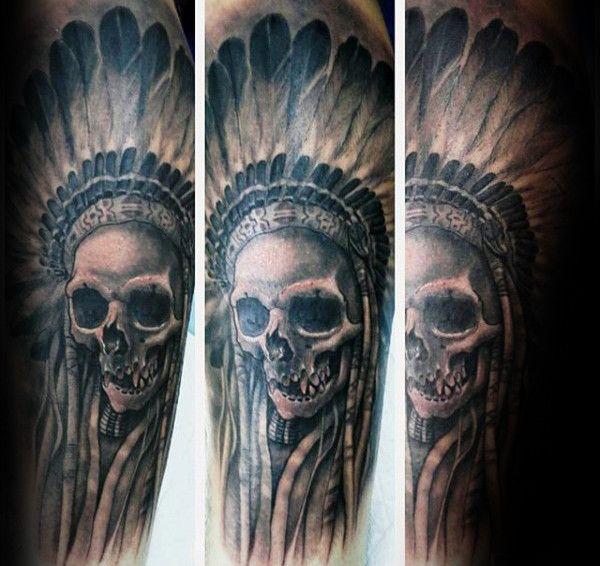 80 Indian Skull Tattoo Designs For Men Cool Ink Ideas Indian Skull Tattoos Tattoo Designs Men Skull Tattoo