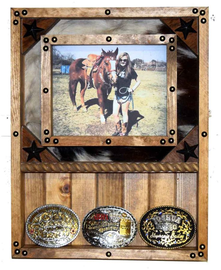 JDB Rustic - 8x10 Picture Frame and Buckle Display - Plank and Cowhide, $49.95…