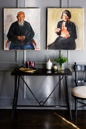 The Trapeze Wrought Iron and Lacquer Console - Contemporary Industrial Mid-Century / Modern Traditional Transitional Console Tables - Dering Hall
