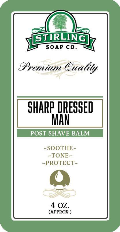 Stirling Soap Company - Sharp Dressed Man Post-Shave Balm, $8.95 (https://www.stirlingsoap.com/sharp-dressed-man-witch-hazel-aloe-balm/)
