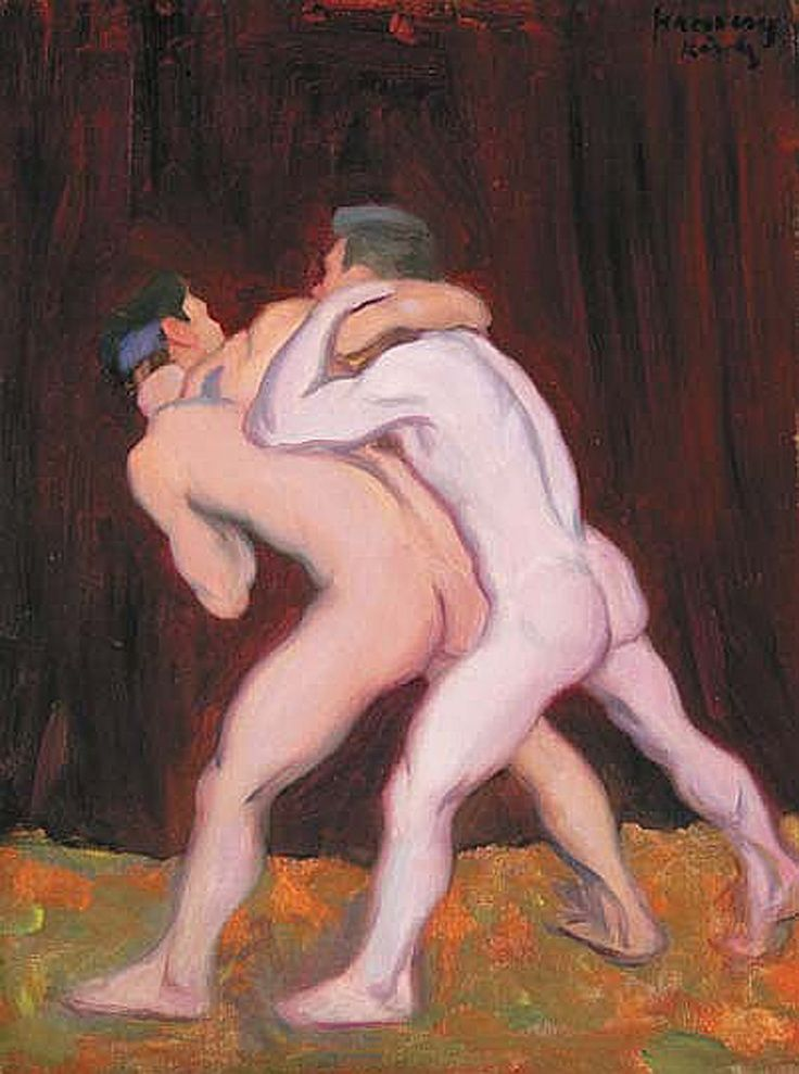 Ferenczy Károly (1862-1917) Wrestlers III., 1912 Oil on canvas