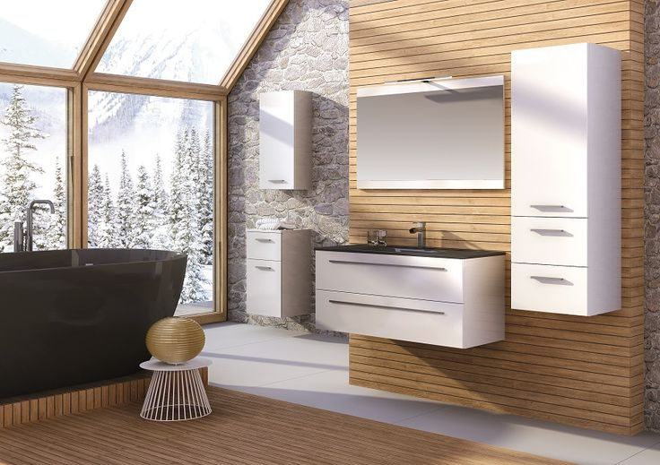 Kwadro 100 2S white.  #elita #meble #lazienka #kwadro #bathroom #furniture