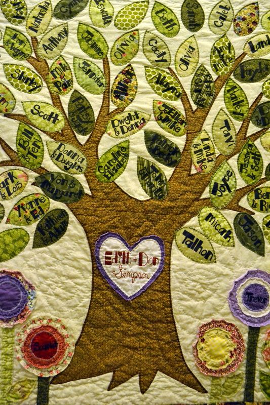 family tree quilt   Family Tree Quilt - Mellin Patch Quilts and Crafts