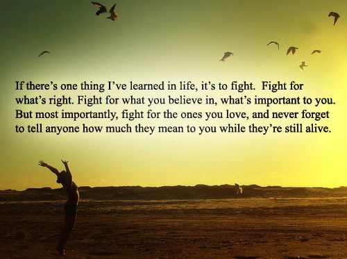 Be a Fighter.