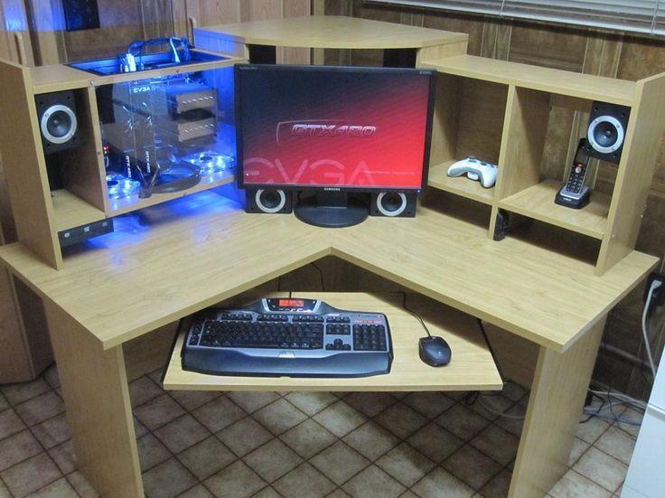 Top 25 best computer desks ideas on pinterest farmhouse - Corner computer desk design plans ...