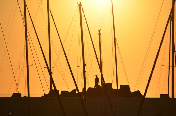 Sunset at Gordons Bay harbour - Cape Town - South Africa. #GordonsBay #harbour #sunset