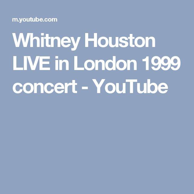 Whitney Houston LIVE in London 1999 concert - YouTube