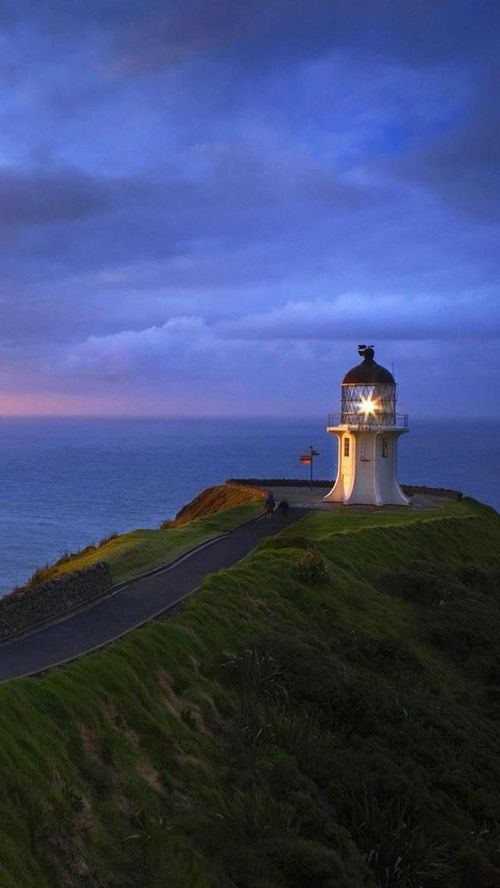 Cape Reinga Lighthouse,Tip of North Island, New Zealand With the beauty of New Zealand is it any wonder why it's on mine and Johnny's bucket list? :)