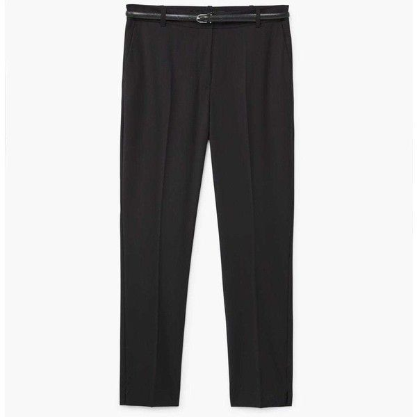Straight Suit Trousers (155 RON) ❤ liked on Polyvore featuring pants, suit pants, straight dress pants, mango trousers, straight pants and suit trousers