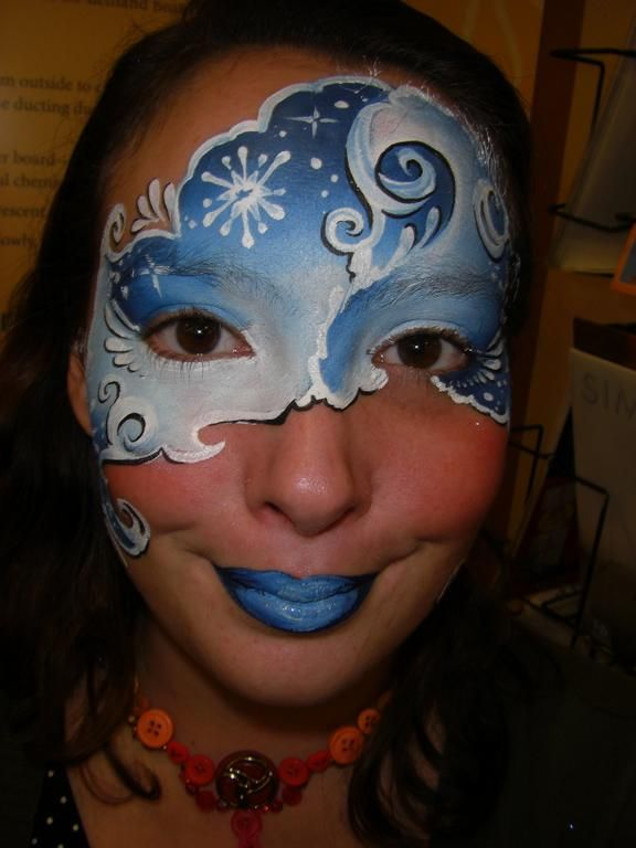 61 Best Face Painting - Ice Princess Crown / Frozen Images ...