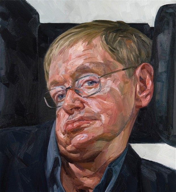 """ Portrait of Stephen Hawking""Tai-Shan Schierenberg, Oil on canvas 122 x 112 ..."