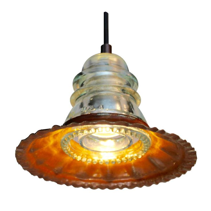 Insulator Light w fluted metal hood