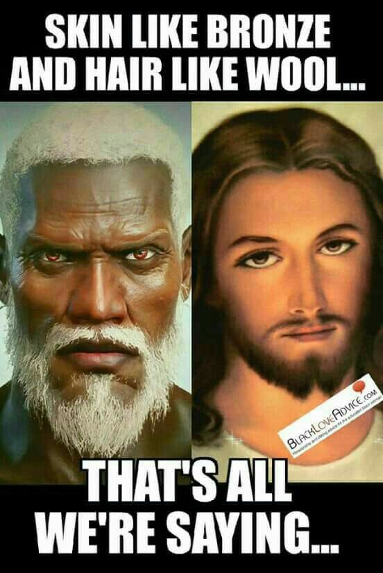 I hope Jesus look like that, cuz in this world the color of the skin is more important  than be a real human, and then in the judgment day the people judge others for their color of their skin, and then, they have to explain to God for what reason they was racist.