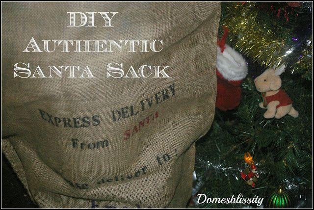 Domesblissity: DIY authentic Santa sacks