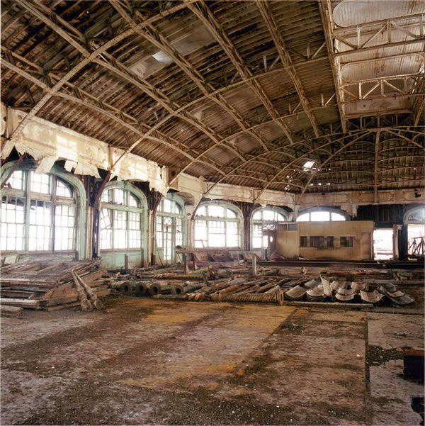 Inside Brighton's West Pier before the fire.