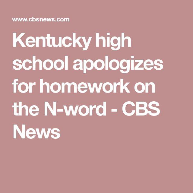 Kentucky high school apologizes for homework on the N-word - CBS News