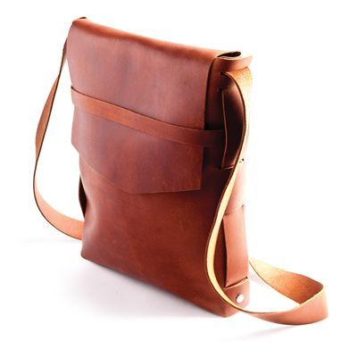 Explorer leather satchel / Rustico
