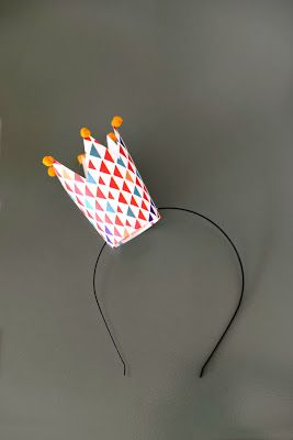 Paper cup crown headband