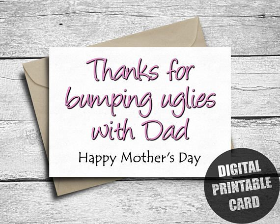 Funny Mother's Day Card  Printable  Happy Mother's