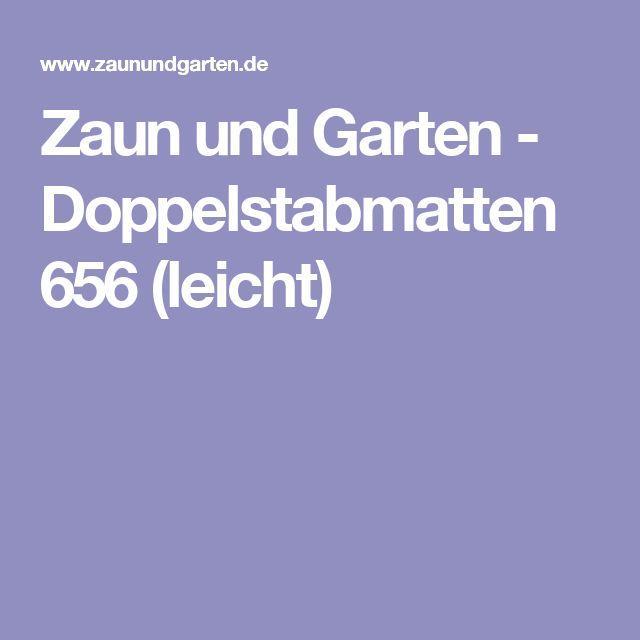Zaun und Garten - Doppelstabmatten 656 (leicht)