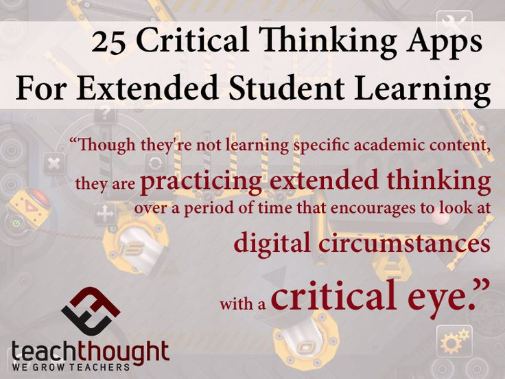 Promote critical thinking students