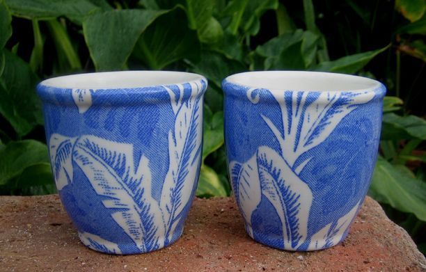 Again in TEPCO Blue Palm - two double egg cups