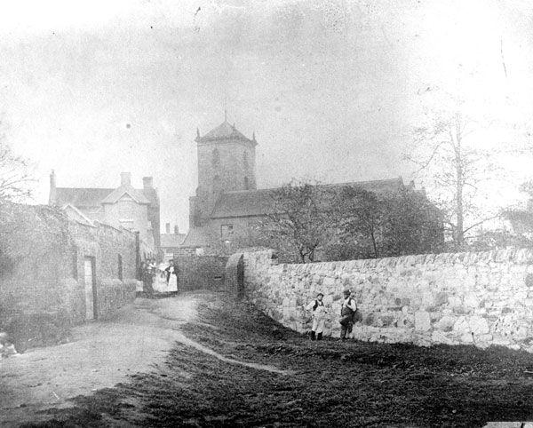 Original St Giles' Church, Willenhall, c1865