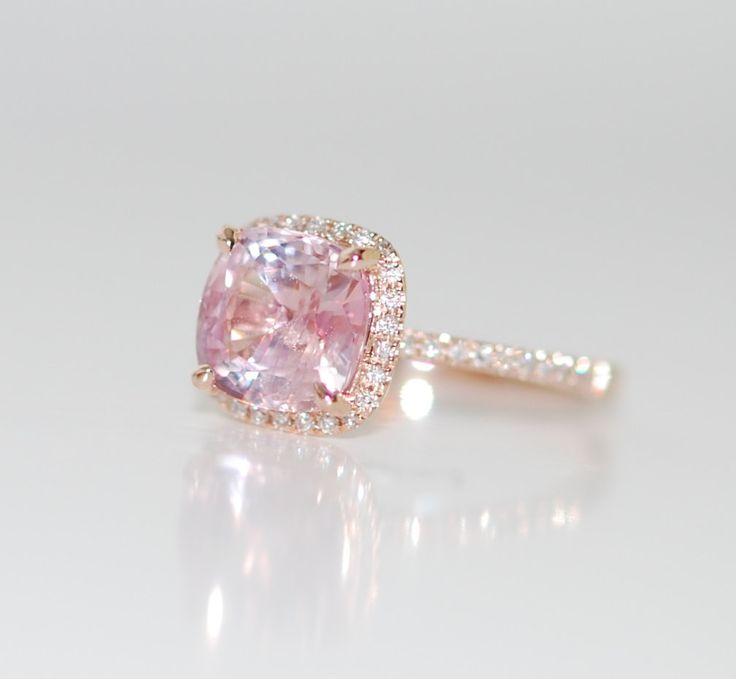 »Rose Gold #Engagement #ring. Peach Pink #Sapphire от #EidelPrecious« #wedding #weddinginspiration #jewelry