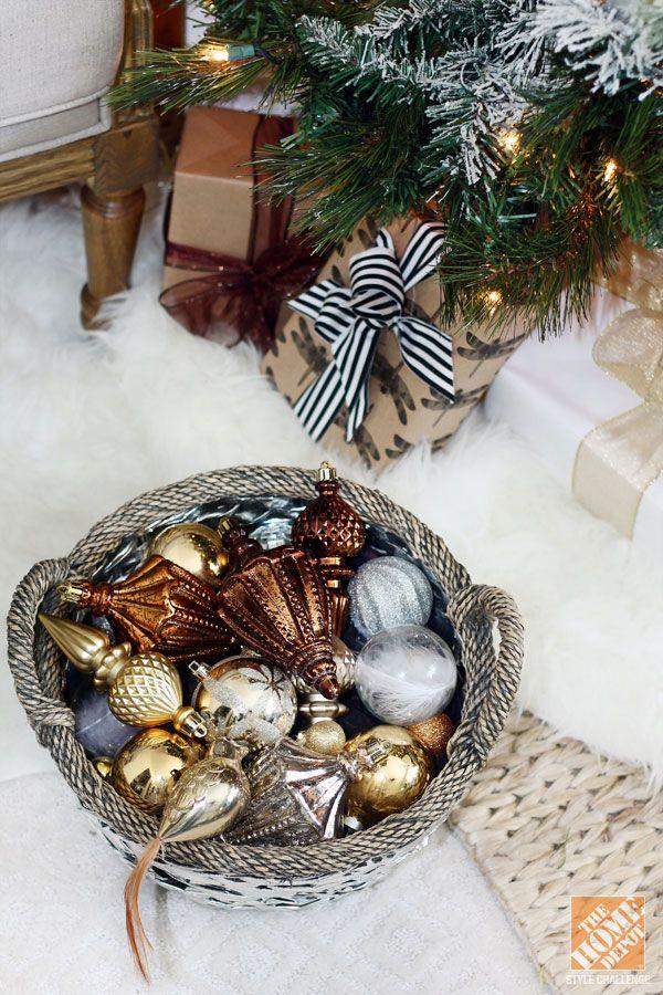 Christmas Decorating Ideas Black Brown Amp White Living