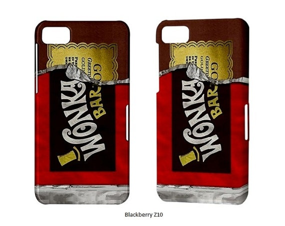 Blackberry Z10 Case Willy Wonka BlackBerry Bold Touch Curve Torch Z 10 Phone Case Wonka Bar Golden Ticket Cool Funny Cell Phone Cases Cover. $17.50, via Etsy.