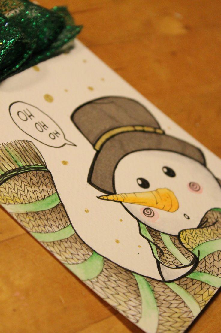 """illustrazione di Marta De Renzi """"snowman"""""""
