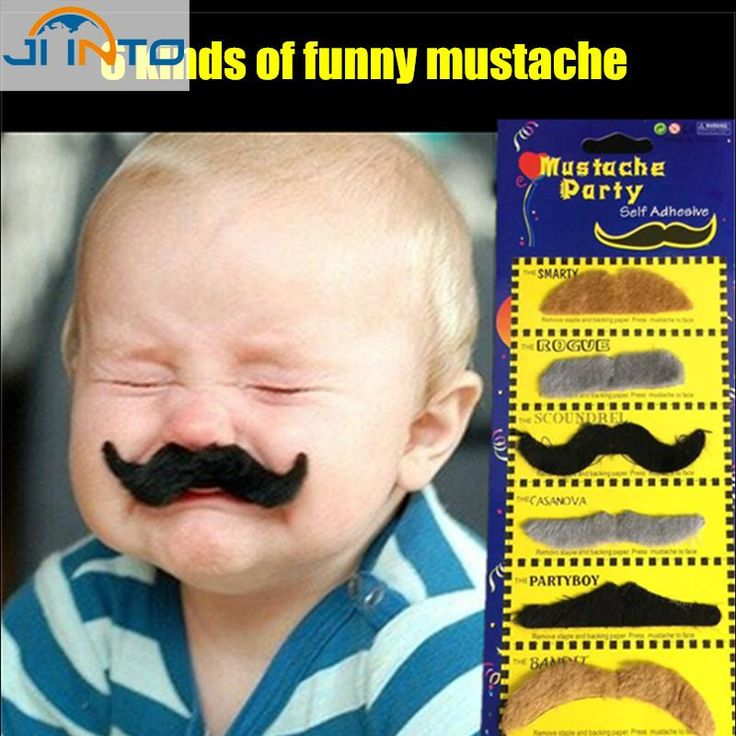 [Visit to Buy] 6pcs/lot Costume Party Halloween Fake Mustache Moustache Funny Fake Beard Whisker #Advertisement
