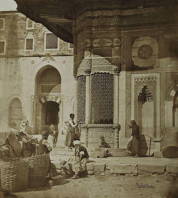 İstanbul Sultanahmet Çeşmesi 1854 Fotoğraf- James Robertson