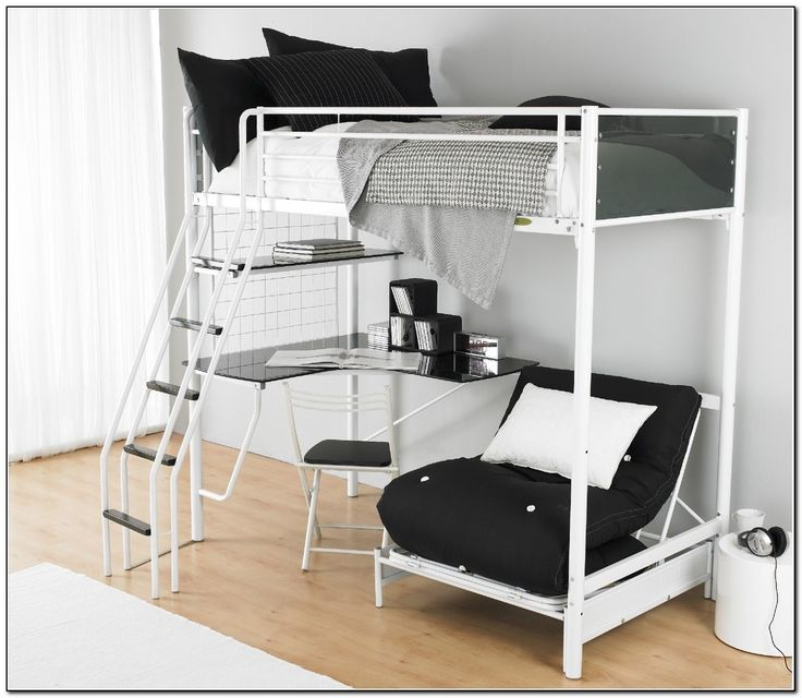 Bunk Bed With Futon On Bottomhome Furniture Design Beds Home Regard To