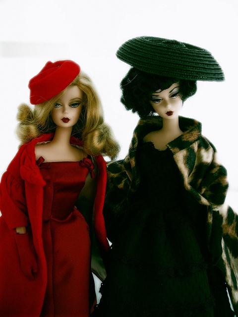 Me & Melinda (if we were vintage Barbies)